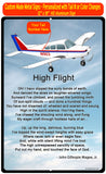 High Flight HD Airplane Sign SIGN-HIGHFLIGHT-AIR255DLJ-BR1 - Personalized w/ your N#