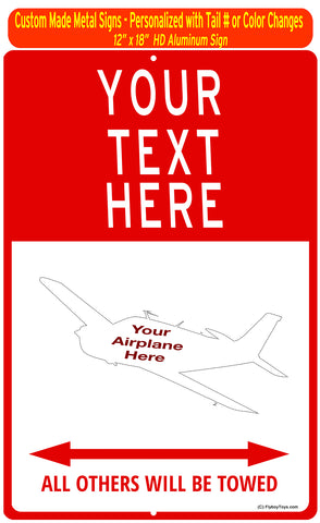 "Custom Aviation 12"" x 18"" HD Metal Sign - Personalized w/ your Airplane Aircraft"