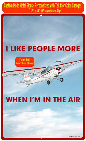 I Like People Metal HD Airplane Sign - AERCHIEF-R1