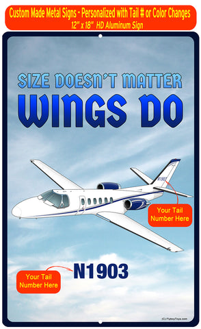 Size Doesn't Matter Metal HD Airplane Sign - AIR35JJ39K1K9FEII-SB1