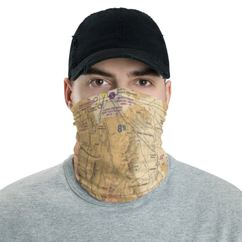 Custom Airport Maps Neck Gaiter