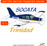 Socata Trinidad TB 20 Airplane T-shirt - Personalized with N#