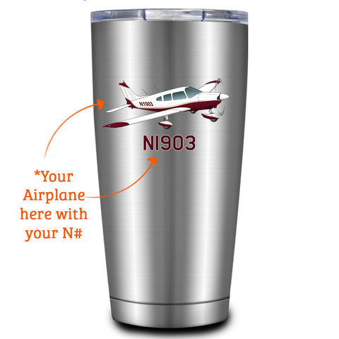 Custom Airplane Travel Tumblers