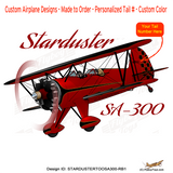 Stolp Starduster Too SA300 (Red/Black) Airplane Design
