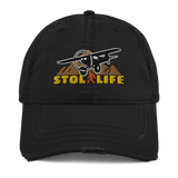 STOL LIFE Airplane Embroidered Distressed Cap - Personalized with Your N#