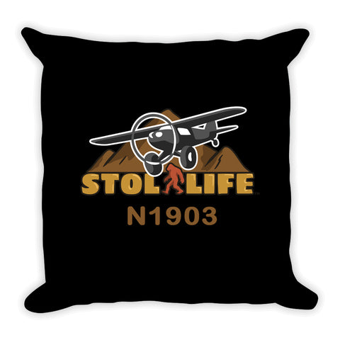 STOL Life Aviation Throw Pillow  - Personalized w/ your N#