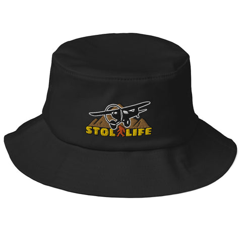 STOL Life Airplane Embroidered Flexfit Bucket Hat