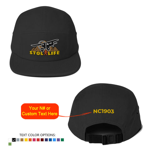 STOL LIFE Airplane Embroidered Classic  Jockey Cap - Personalized with Your N#