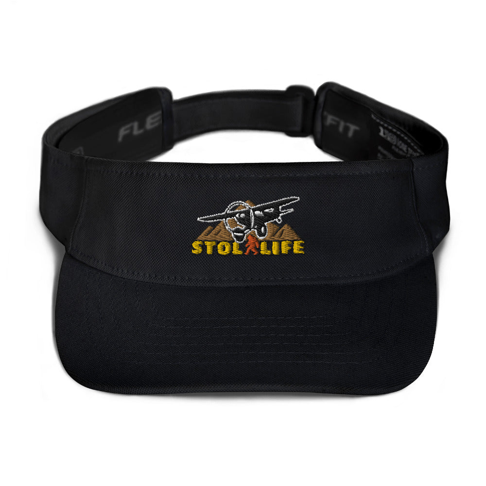 STOL LIFE Airplane Embroidered Flexfit Visor Hat