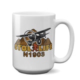 STOL LIFE Airplane Ceramic Mug - Personalized with Your N#