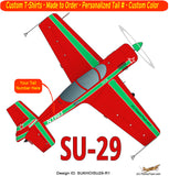 Sukhoi SU-29 Airplane T-shirt- Personalized with N#