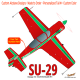 Sukhoi SU-29 (Red) Airplane Design