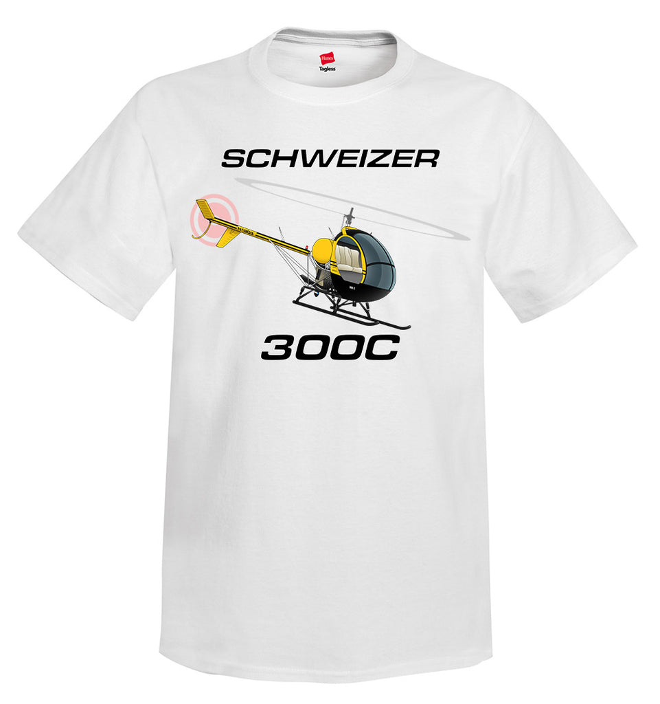 Schweizer 300 CBI (Yellow) Helicopter T-Shirt - Personalized w/ Your N#