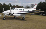 Beechcraft King Air 90 (Red/Blue/Silver) Airplane Design