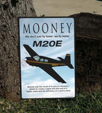 Mooney M20 / M20E (Black/Yellow) HD Airplane Sign
