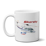 Sikorsky S-76 (Blue) Airplane Ceramic Mug - Personalized w/ N#