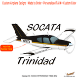 Socata Trinidad TB 20 Airplane T-Shirt - Personalized w/ Your N#