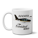 Socata Trinidad TB 20 Airplane Ceramic Mug - Personalized w/ N#
