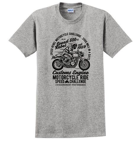 Speed Rebel Bike Vintage Motorcycle T-shirt