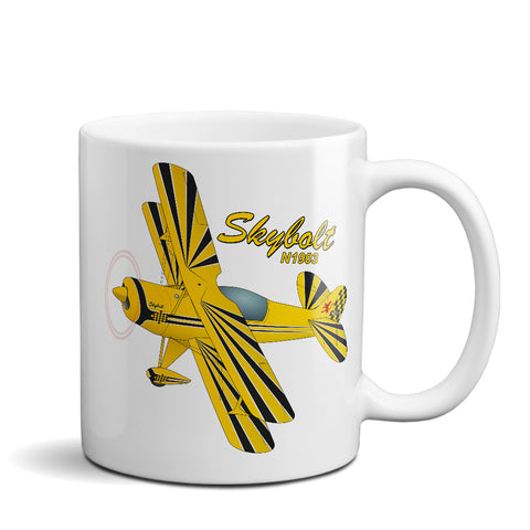 Steen Aero Skybolt (Yellow/Black) Airplane Ceramic Mug - Personalized