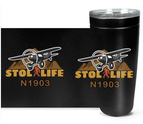STOL LIFE Airplane Travel Tumblers  - Personalized with Your N#