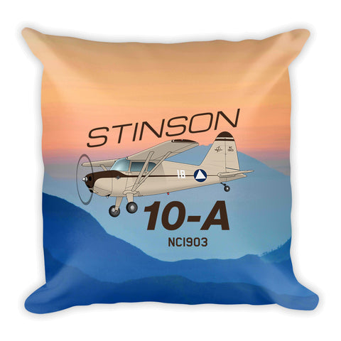 Stinson 10-A Airplane Custom Throw Pillow Case Stuffed & Sewn
