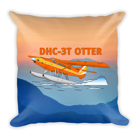De Havilland DHC-3T Otter Airplane Custom Throw Pillow Case Stuffed & Sewn