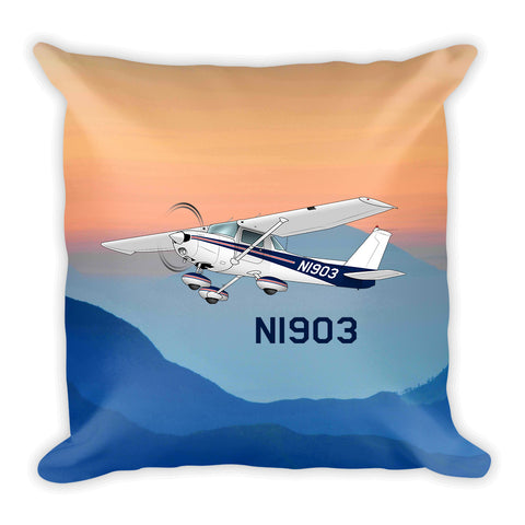 Airplane Custom Throw Pillow Case Stuffed & Sewn - AIR35JJ152-RB2