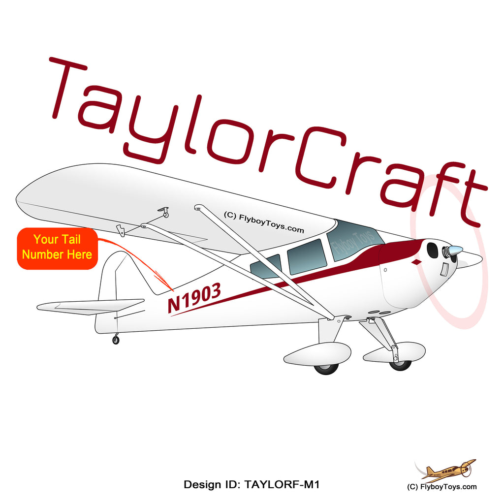 Taylorcraft F-21B (Maroon) Airplane Design - N39974