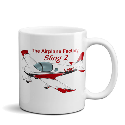 The Airplane Factory Sling 2 (Red) Airplane Ceramic Mug - Personalized