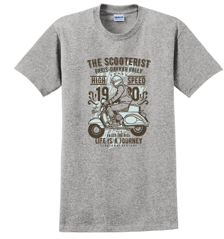The Scooterist Vintage Motorcycle T-shirt