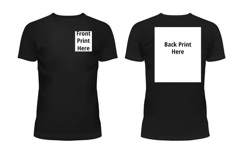 Second (2nd) Side / Double Sided Printing for Custom T-Shirt