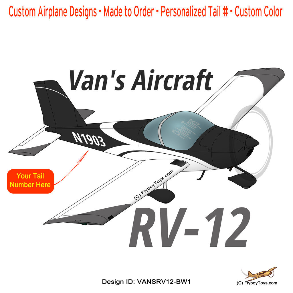 Van's Aircraft RV-12 (RV12 Black/White) Airplane Design
