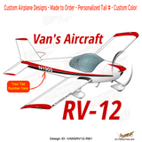 Van's Aircraft RV-12 (Red/Black) Airplane Design