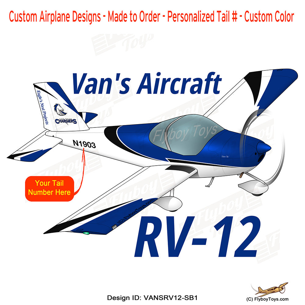 Van's Aircraft RV-12 (Silver/Black) Airplane Design