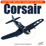 Goodyear Chance Vought FG-1D Corsair Airplane T-shirt - Personalized with Your N#