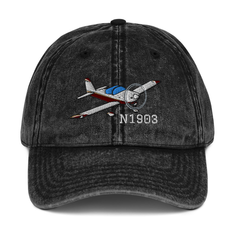 Airplane Embroidered Vintage Cap (AIRM1EIM7A-R2) - Personalized