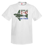 Douglas C-47 Skytrain Airplane T-Shirt - Personalized with Your N#