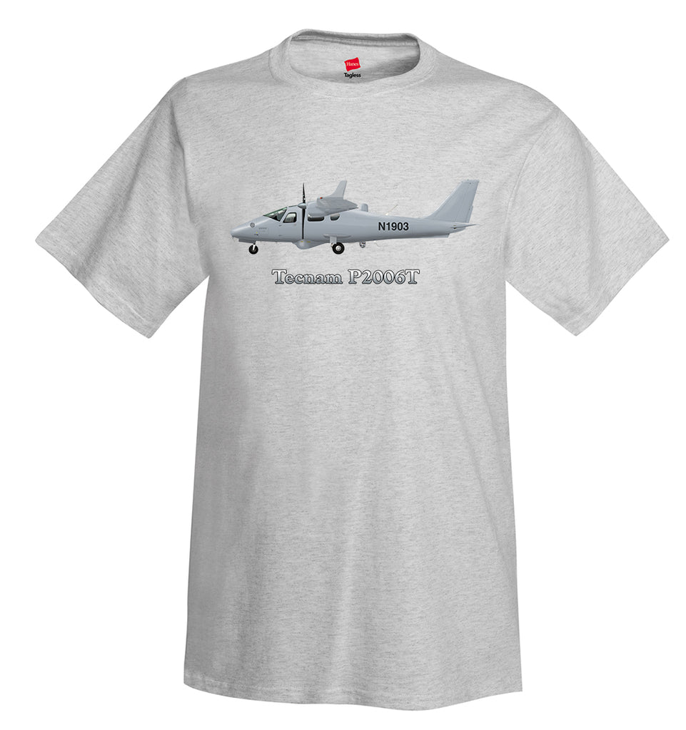 Tecnam P2006T Airplane T-Shirt - Personalized with Your N#