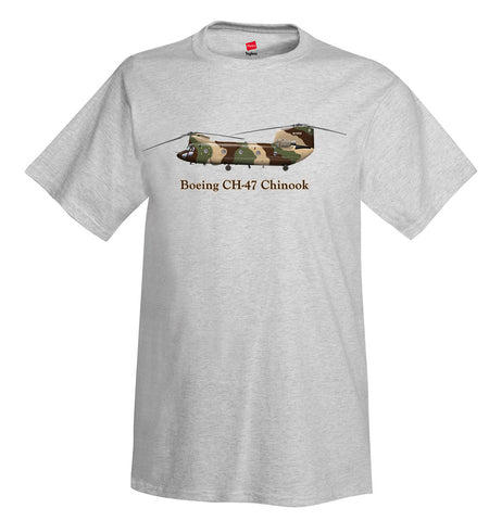 Boeing CH-47 Chinook Helicopter T-Shirt - Personalized with Your N#