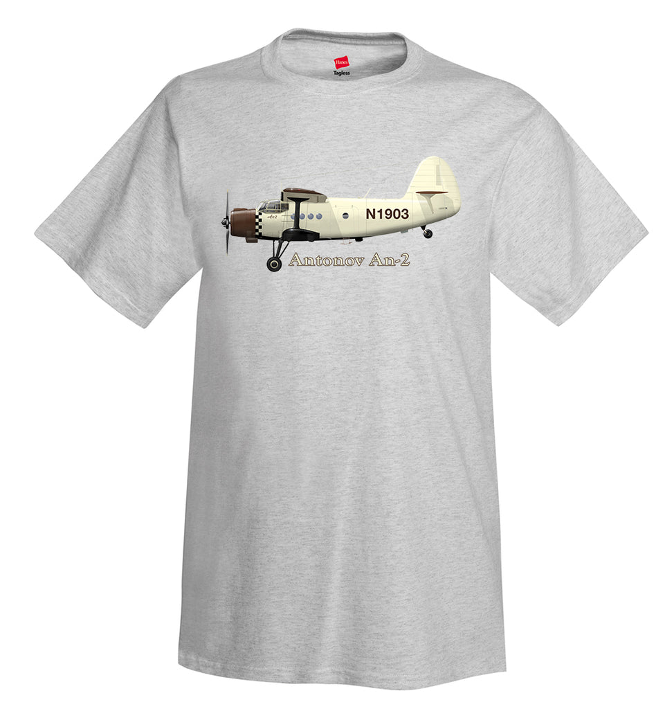 Antonov An-2 Airplane T-Shirt - Personalized with Your N#