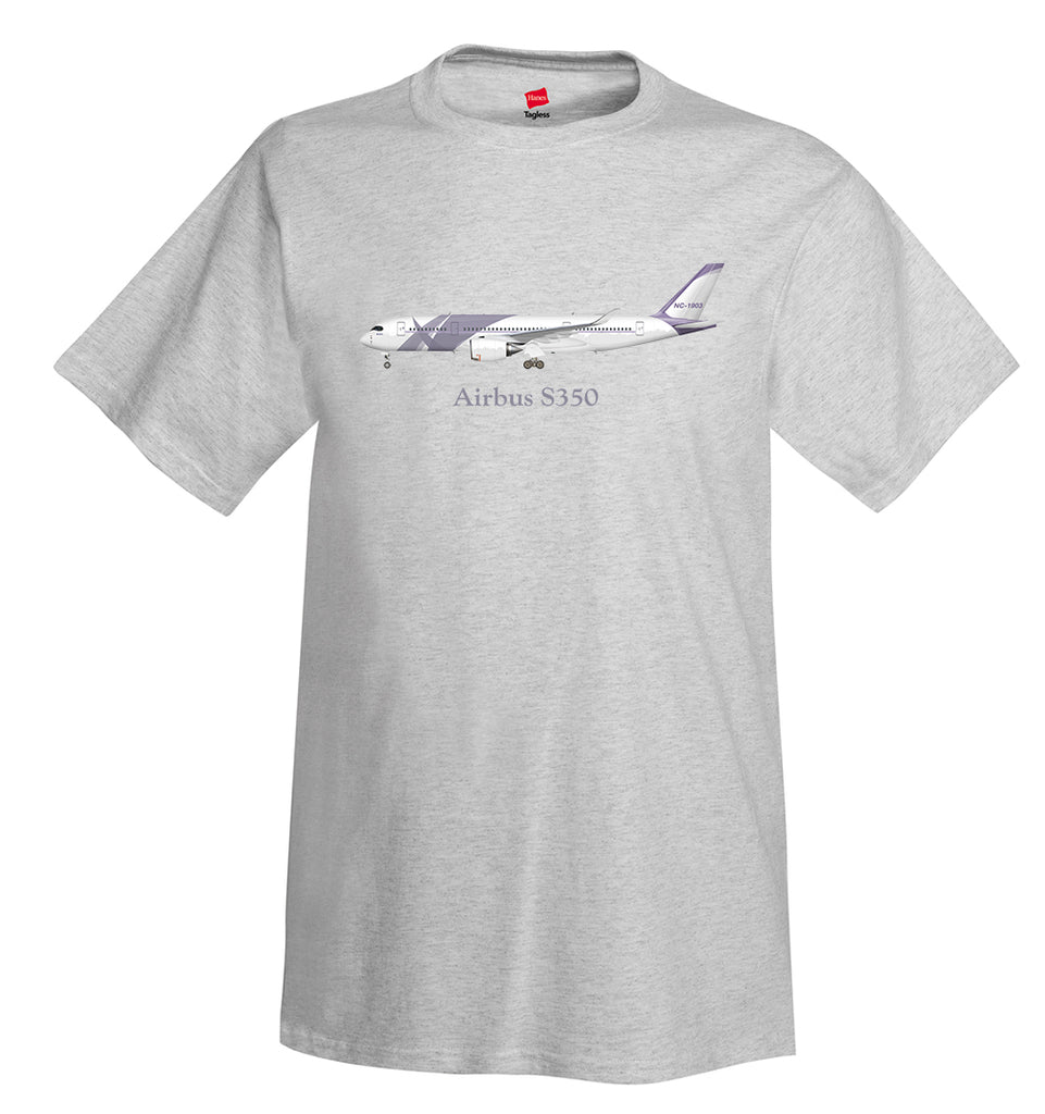 Airbus S350 Airplane T-Shirt - Personalized with Your N#