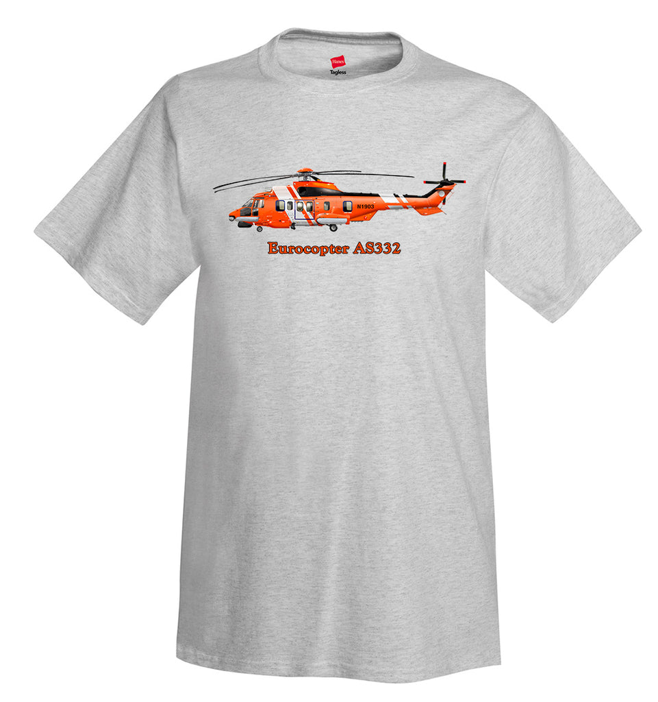 Eurocopter AS332 Helicopter T-Shirt - Personalized with Your N#