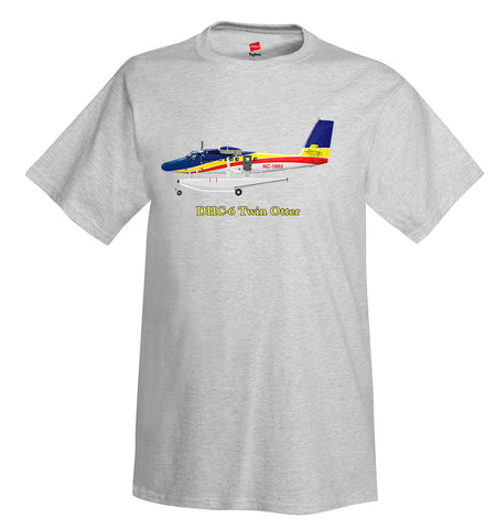 De Havilland Canada DHC-6 Twin Otter Airplane T-Shirt - Personalized with Your N#