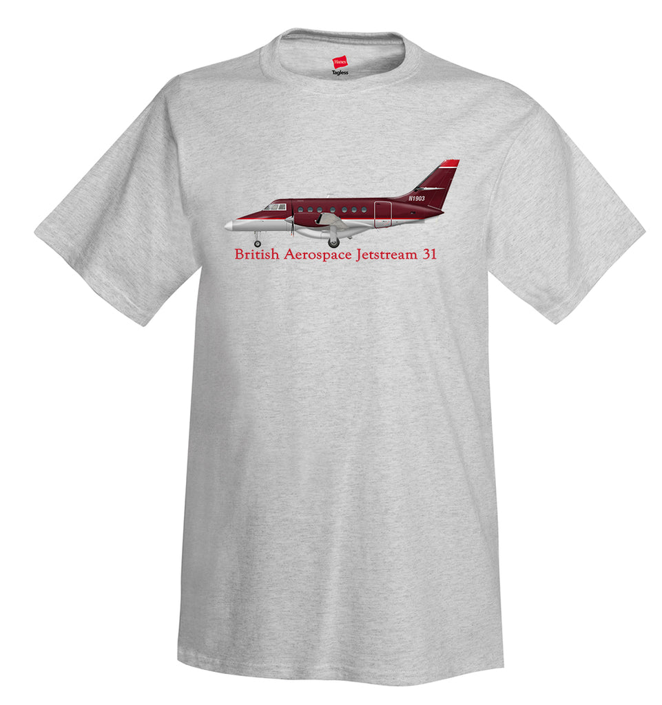 British Aerospace Jetstream 31 T-Shirt - Personalized with Your N#