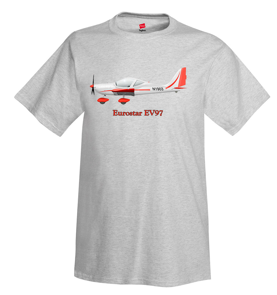 Eurostar EV97 Airplane T-Shirt - Personalized with Your N#