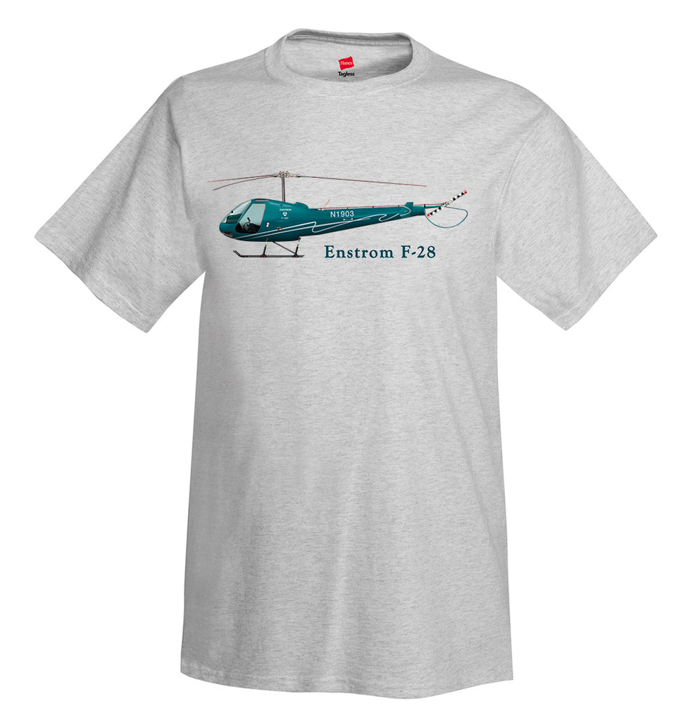 Enstrom F-28 Helicopter T-Shirt - Personalized with Your N#