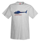 Airbus AS350 Helicopter T-Shirt - Personalized with Your N#