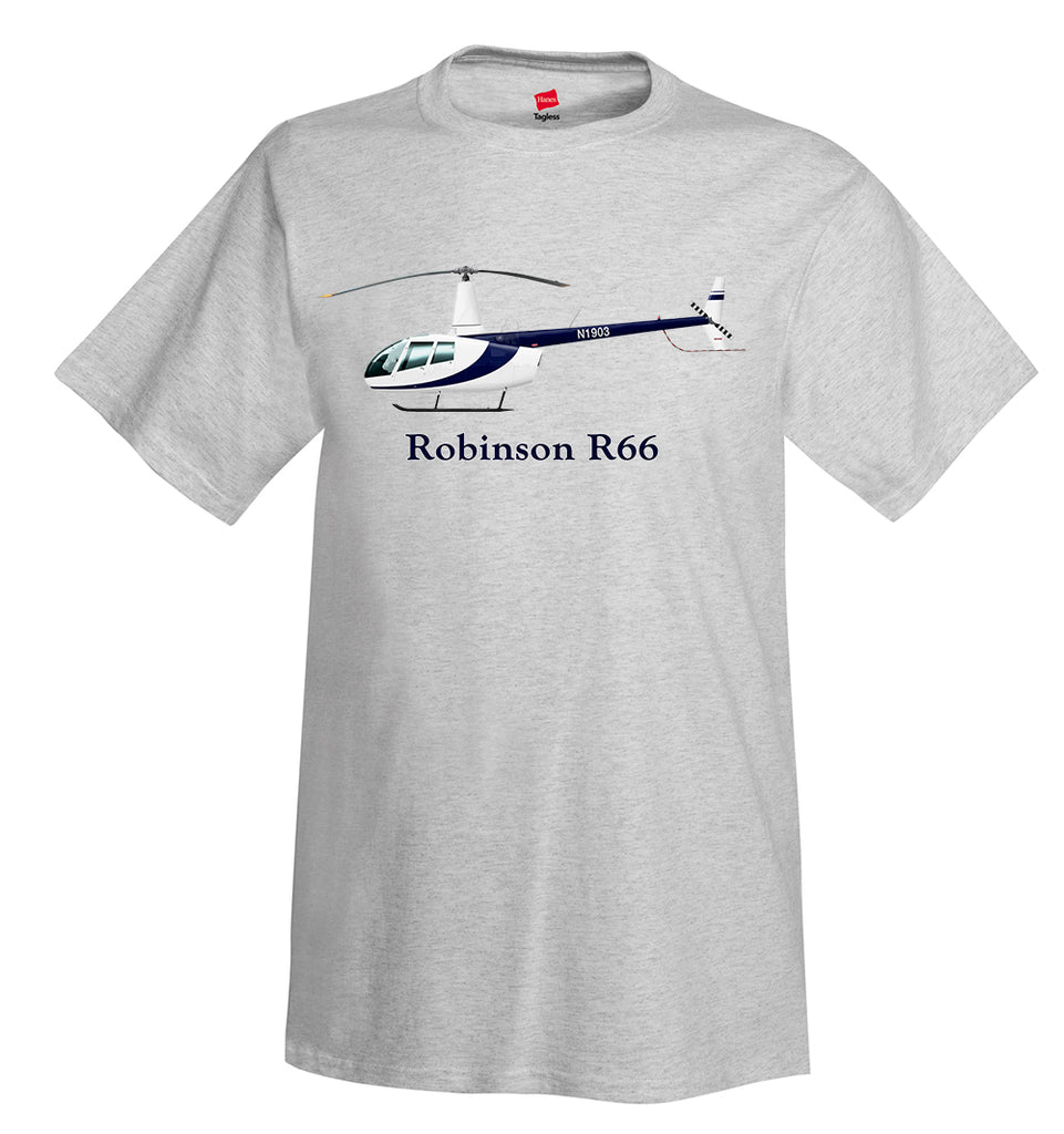 Robinson R66 Helicopter T-Shirt - Personalized with Your N#