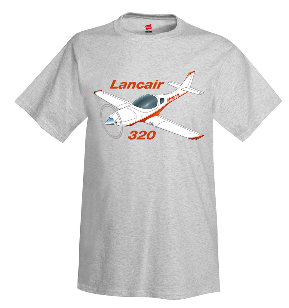 Lancair 320 Airplane T-Shirt - Personalized with Your N#